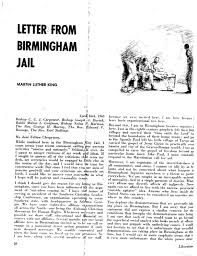 letter from a birmingham jail by martin luther king jr ned  the