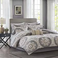 details about essentials serenity comforter sets cal king size bed a bag taupe medallion 9