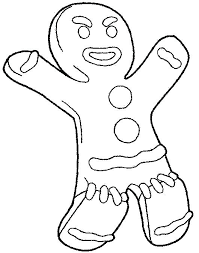 Gingerbread Man Story Colouring Pages Color Page Coloring Sheet