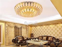 stunning chandelier lights for living room 2018 golden lotus crystal lamp living room bedroom cornucopia led