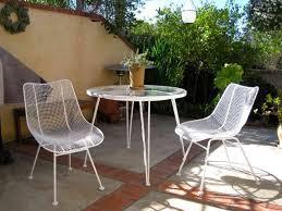 Vintage Woodard Wrought Iron Patio Set Pomegranate Pattern Table Woodard Wrought Iron Outdoor Furniture