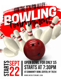 Bowling Event Flyer Template 10 570 Bowling Event Customizable Design Templates