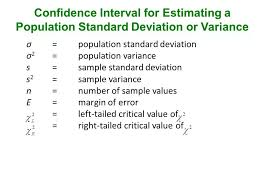 Section 7.4 Estimating A Population Standard Deviation Or Variance