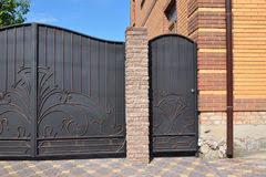 Metal fence gate door stock image Image of piece modern 53182715