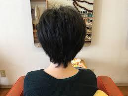 50代のくせ毛でもできる女性らしさのあるベリーショート 総社市 美容室