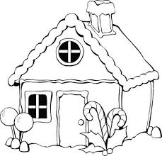 Christmas Gingerbread House Coloring Page Free Printable Coloring