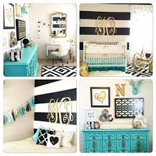 Gold Nursery Design We Love The Turquoise Accents Black White ...