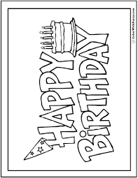 55 Birthday Coloring Pages Customizable Pdf Birthday Birthday