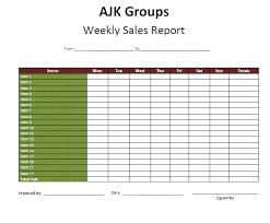 Status Report Format Weekly Report Template