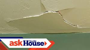 patching drywall ceiling. Modren Drywall How To Repair A Cracked Drywall Ceiling  This Old House Intended Patching N