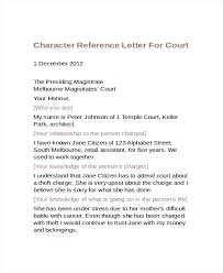 Character Letter Templates Character Reference Letter