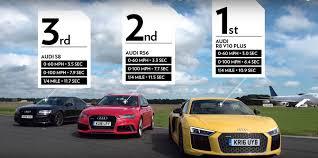 Audi R8 V10 Plus vs. RS6 vs. S8: The Lord of the Rings Drag Race ...
