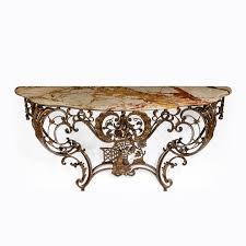 iron console table. Napoleon III Cast Iron Console Table G