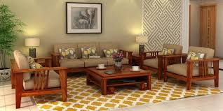 where to wooden sofa sets in india