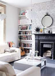 50 AweInspiring White Brick Walls Shaping Airiness IndoorsWhite Brick Wall Living Room