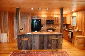 image of rustic log kitchen cabinets