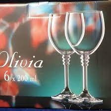 Olivia: Glass for wine 200 ml, 6 pcs., Bohemia Crystalex - Bohemia  Crystalex a Crystalite Bohemia - Crystal glass Bohemia Crystalex and  Crystalite Bohemia - by Manufacturers or popular decors - Dumporcelanu.cz -