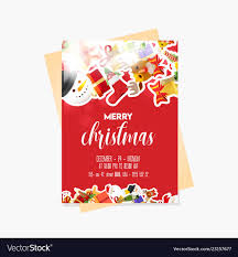 Christmas Party Flyer Templates Microsoft 025 Vintage Christmas Party Flyer Template Vector Ideas Ulyssesroom
