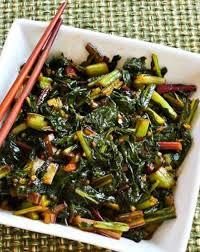 Spicy Asian Stir Fried Swiss Chard