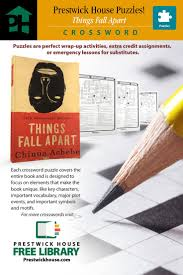 best images about teacher lesson plans student crossword puzzle for things fall apart to use in your classroom