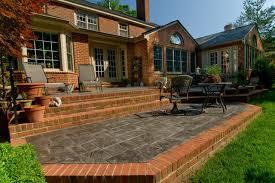 multi level brick patio