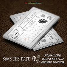 Free Save The Date Cards Free Save The Date Business Card Template