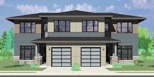 d 625 modern prairie duplex house plan 4 bedroom master on the main