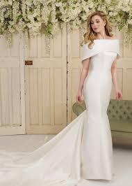 strapless mikado satin fishtail wedding dress with cape let