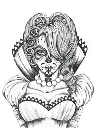Small Picture Sugar Skull Coloring Pages Pdf Girl Things Page vonsurroquen
