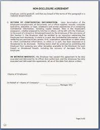 41 New Non Disclosure Agreement Template Doc – Damwest Agreement
