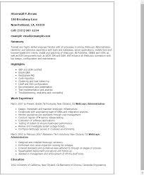 Weblogic Administration Sample Resume 1 17 Computer Network