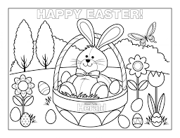 Easter Coloring Pages Pictures Happy Pages Adult