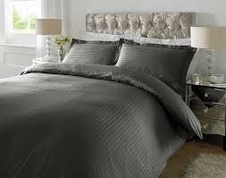 hotel quality luxury satin stripe duvet cover single double king