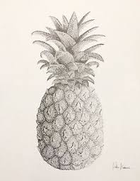pineapple drawing. image is loading pineapple-original-drawing-tropical-fruit-black-and-white- pineapple drawing