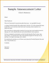 Announcement Letter Sample Format Announcement Letter format Best Of Ideas 24 Announcement Letter 1