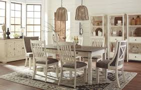 white and black dining room table. Bolanburg White And Gray Rectangular Dining Room Set Media Gallery 2 Black Table