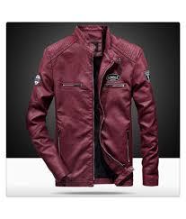 super me men s pu jackets coats autumn winter motorcycle biker faux leather jacket men clothes red m super me men s pu jackets coats autumn winter