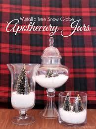 Apothecary Jars Christmas Decorations Metallic Trees Snow Globe Apothecary Jars Girl Loves Glam 86