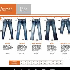 Rock And Republic Jeans Size Chart Rock Revival Size Chart