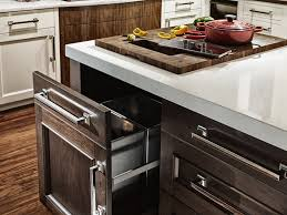 photo of a butcher block with a trash hole custom butcher block countertop