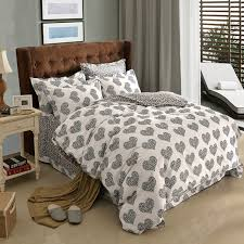 black and white polka dot heart colorful plaid geometric bedding set queen king size duvet cover brushed cotton fabric textiles in bedding sets from home