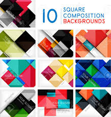 Set Of Business Squares Background Design Templates Glossy Shiny
