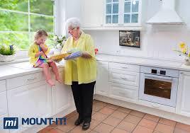 Amazon Com Mount It Mi Lcdcm Kitchen Under Cabinet Mount Tv