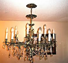 antique french crystal chandelier light antique french brass crystal chandelier k antique french basket style brass