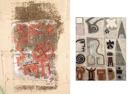 graffiti found in montclair which looks like an adolph gottlieb abstract expressionist painting