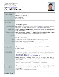 cv for a waiter french cv exemple resume list skill or knowledge risk manager cover