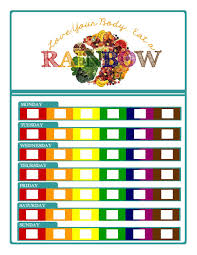 Rainbow Fruits And Vegetables Chart Free Eat The Rainbow Chart Encourages Healthy Eating By