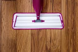 mopping laminate floor