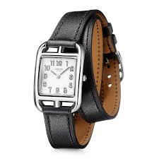 hermes watches jomashop hermes cape cod silver dial black barenia leather ladies watch 020983ww00