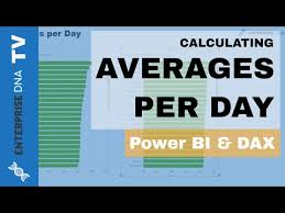 Sales Per Day Formula How To Calculate Averages Per Day In Power Bi W Dax Youtube